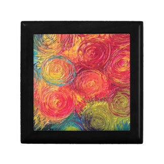 Colorful Rainbow Abstract Spirals Gift Box