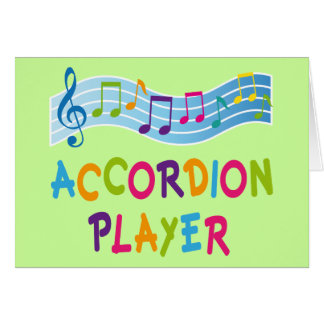 Colorful Rainbow Accordion Player Gift Cards