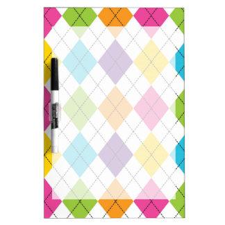 Colorful Rainbow Argyle Diamond Pattern Teen Gifts Dry Erase Board