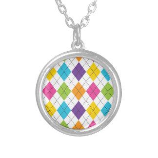 Colorful Rainbow Argyle Diamond Pattern Teen Gifts Custom Jewelry