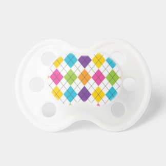 Colorful Rainbow Argyle Diamond Pattern Teen Gifts Pacifier