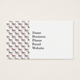 Colorful Rainbow Artistic Horse Pattern Business Card