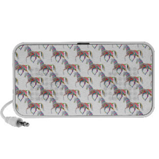 Colorful Rainbow Artistic Horse Pattern Notebook Speakers