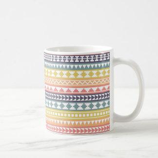 Colorful Rainbow Aztec Pattern Classic White Coffee Mug