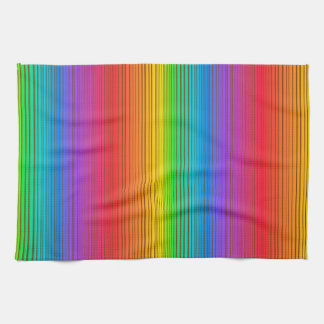 Colorful Rainbow Background Towel