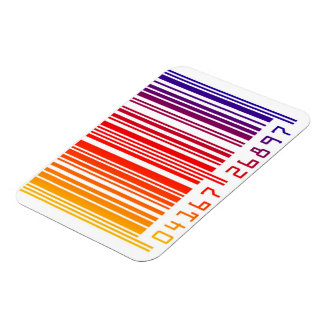 colorful rainbow barcode magnet