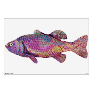 COLORFUL RAINBOW BASS WALL STICKER