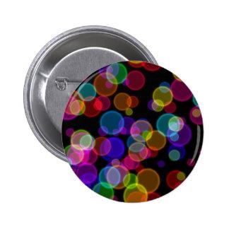 Colorful Rainbow Bokeh Bubbles Button