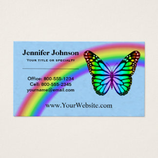 Colorful Rainbow Butterflies Business Card