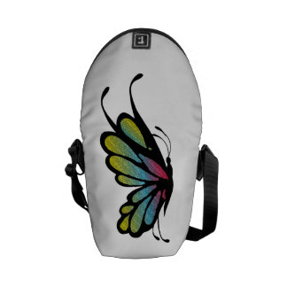 Colorful Rainbow Butterfly Courier Bag