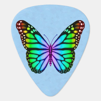 Colorful Rainbow Butterfly Guitar Pick