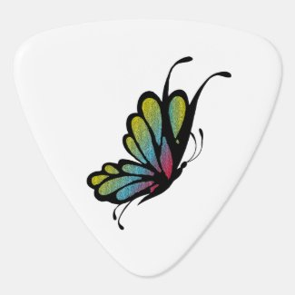 Colorful Rainbow Butterfly Pick