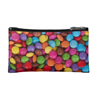 Colorful rainbow candy sweets cosmetic bag
