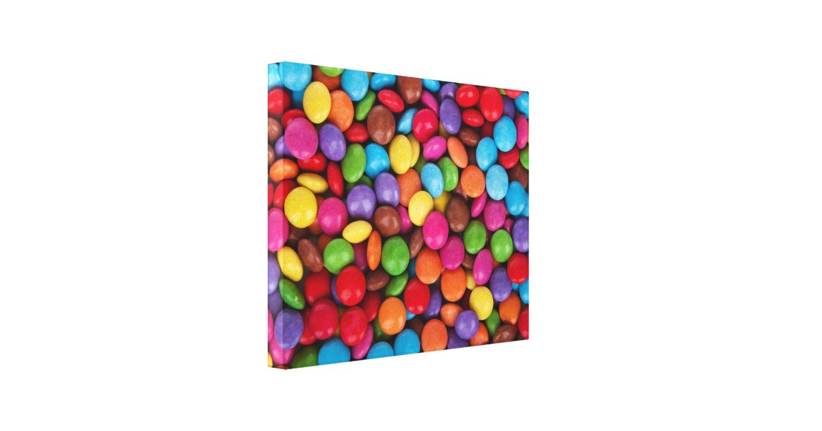 colorful rainbow candy sweets canvas print zazzle