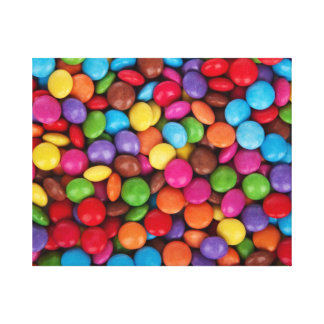 Colorful rainbow candy sweets canvas print