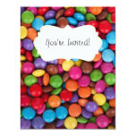 Colorful rainbow candy sweets 4.25x5.5 paper invitation card