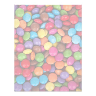 Colorful rainbow candy sweets letterhead