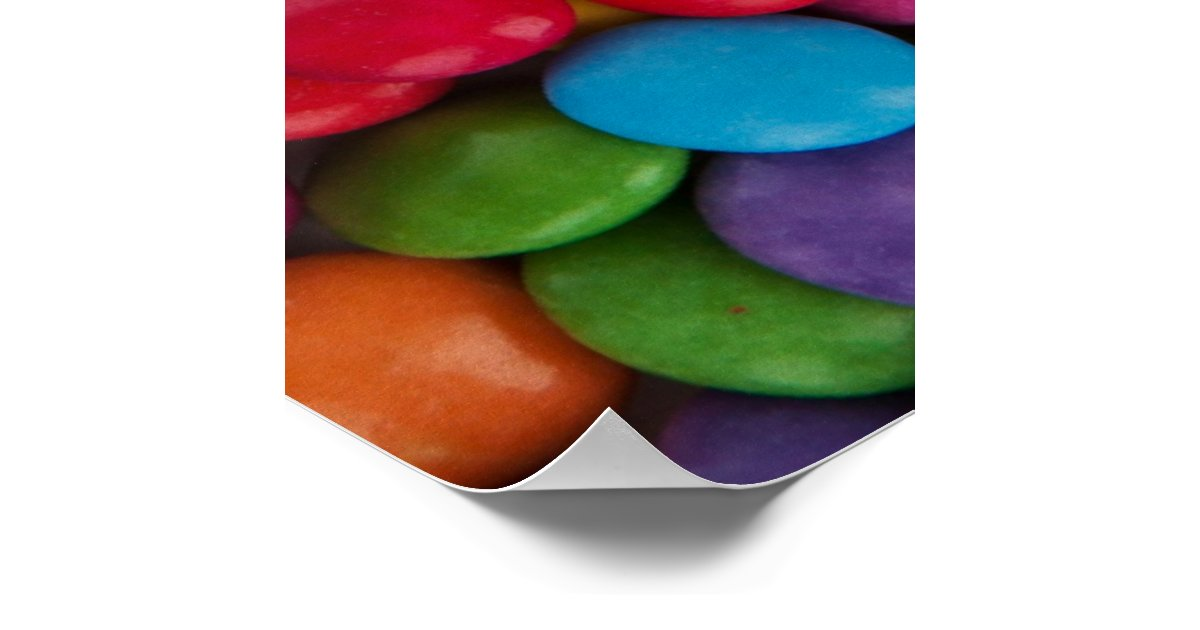colorful rainbow candy sweets poster zazzle