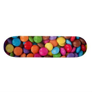 Colorful rainbow candy sweets custom skateboard