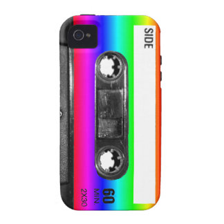 Colorful Rainbow Cassette Vibe iPhone 4 Cases