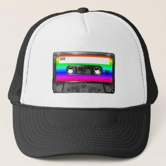 Colorful Rainbow Cassette Trucker Hat