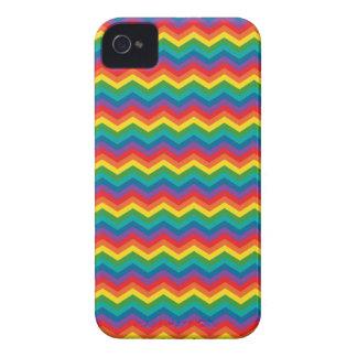 Colorful Rainbow Chevron Zigzag Case-Mate iPhone 4 Cases