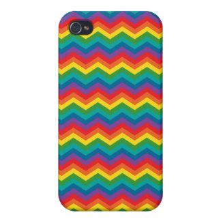 Colorful Rainbow Chevron Zigzag iPhone 4 Cases