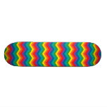 Colorful Rainbow Chevron Zigzag Skateboards