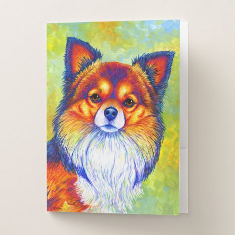 Colorful Rainbow Chihuahua Cute Dog Folders