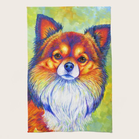 Colorful Rainbow Chihuahua Cute Dog Kitchen Towels