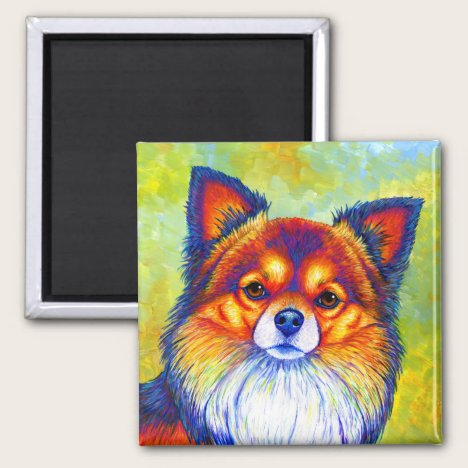Colorful Rainbow Chihuahua Cute Dog Magnet