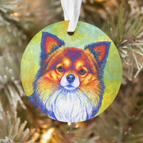 Colorful Rainbow Chihuahua Dog Acrylic Ornament