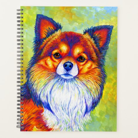 Colorful Rainbow Chihuahua Dog Planner