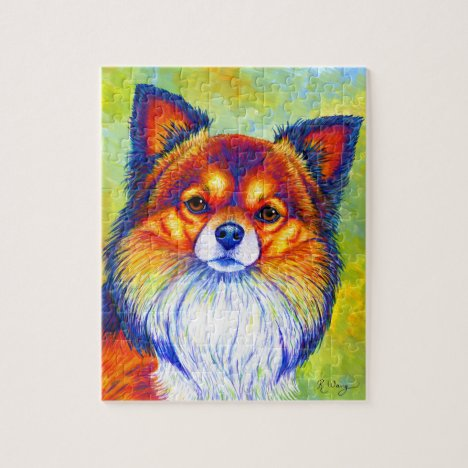 Colorful Rainbow Chihuahua Dog Puzzle