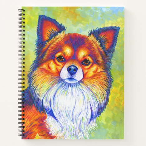 Colorful Rainbow Chihuahua Dog Spiral Notebook