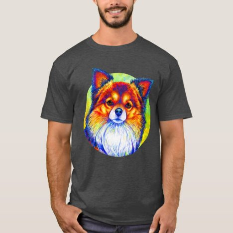 Colorful Rainbow Chihuahua Dog T-Shirt