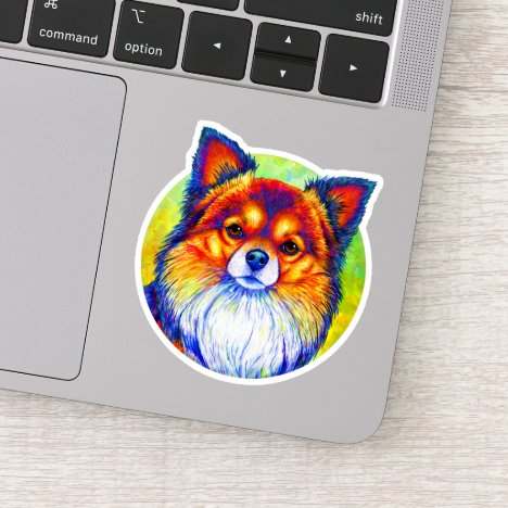 Colorful Rainbow Chihuahua Dog Vinyl Sticker