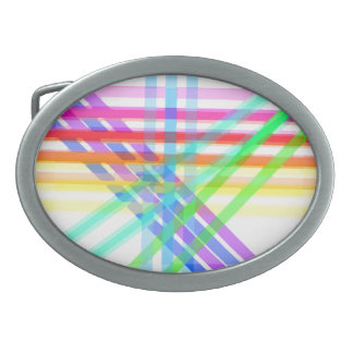 Colorful Rainbow Clothing Buckle Oval Belt Buckles