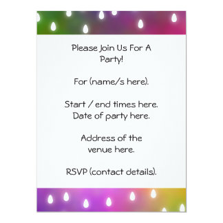 Colorful Rainbow Clouds with White Raindrops. 6.5x8.75 Paper Invitation Card