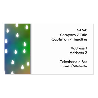 Colorful Rainbow Clouds with White Raindrops. Business Card