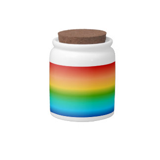 Colorful Rainbow color gradient Candy Dish
