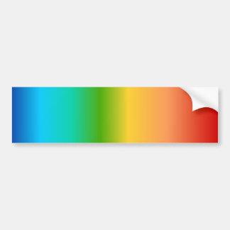 Colorful Rainbow color gradient Car Bumper Sticker