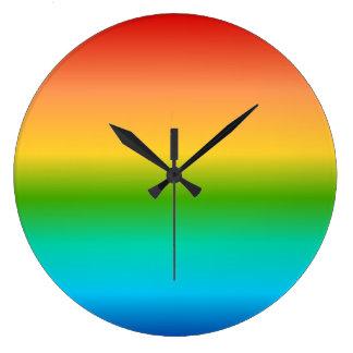 Colorful Rainbow color gradient Wallclock