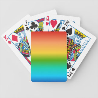 Colorful Rainbow color gradient Bicycle Poker Deck