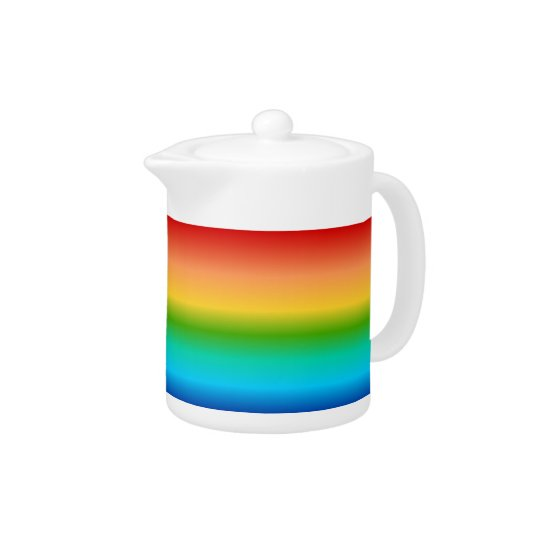 Colorful Rainbow color gradient Teapot