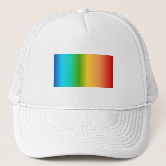 Colorful Rainbow color gradient Trucker Hat