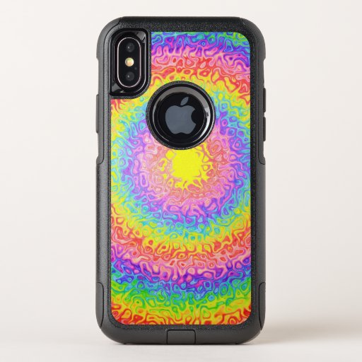 Colorful Rainbow Colors OtterBox Commuter iPhone XS Case