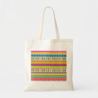 Colorful Rainbow Cute Patterns and Shapes Gifts Canvas Bag