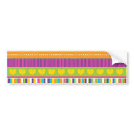 Colorful Rainbow Cute Patterns and Shapes Gifts Bumper Stickers