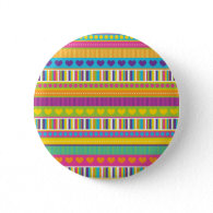 Colorful Rainbow Cute Patterns and Shapes Gifts Pinback Button